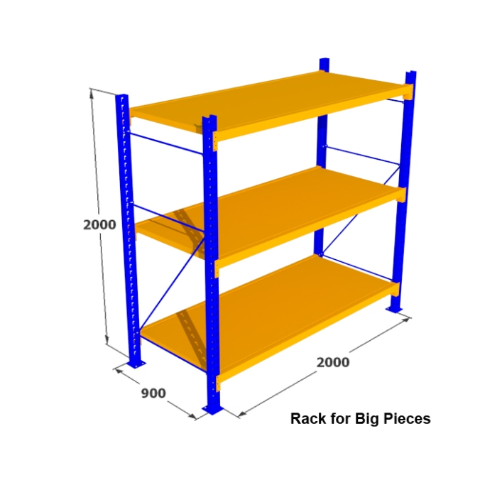 4. Rak Medium Duty for for Big Pieces Rack
