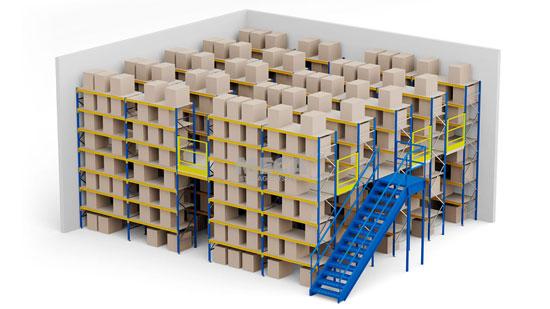 Rak Medium Duty Bertingkat Plywood Floor