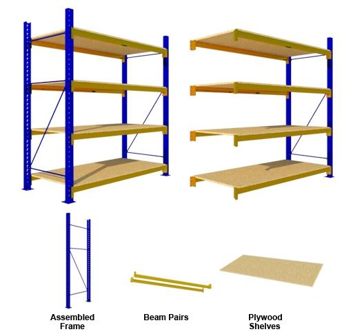 Rak Medium Duty Plywood Shelves