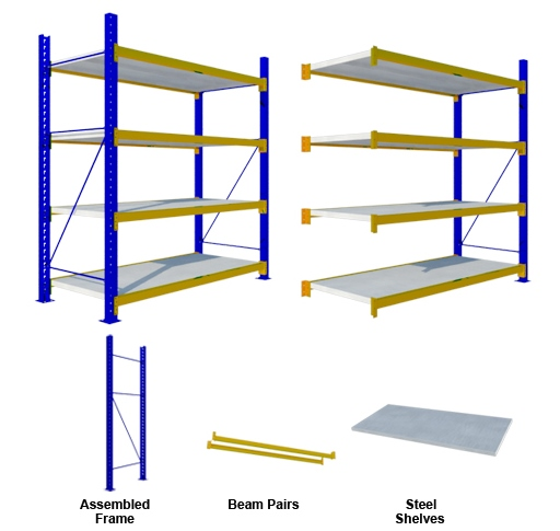 Rak Medium Duty Steel Shelves